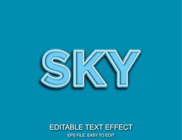 Efeito de texto azul céu
