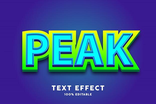 Efeito de texto azul e verde