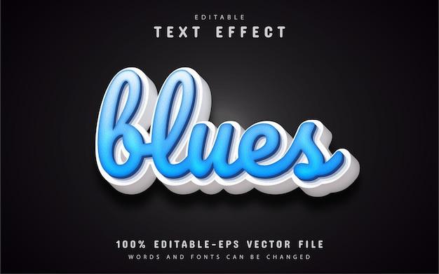 Efeito de texto azul editável