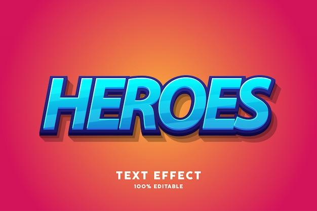 Efeito de texto azul fresco, texto editável