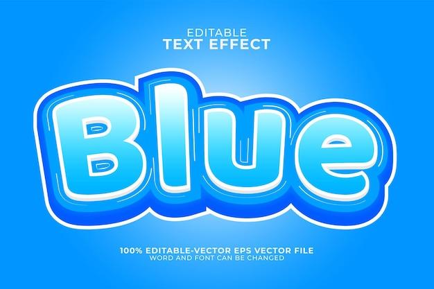 Efeito de texto azul gelo isolado em azul