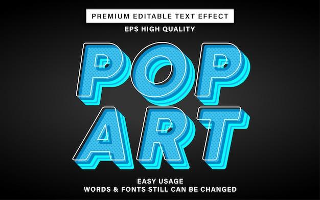 Efeito de texto azul pop art