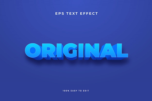 Efeito de texto azul simples