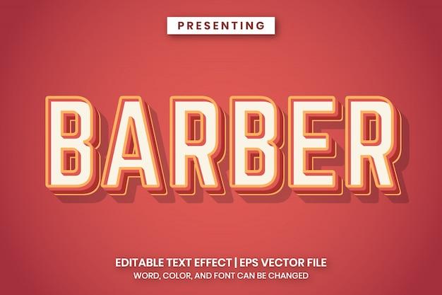 Efeito de texto barbeiro retrô