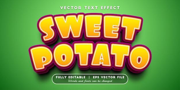 Efeito de texto batata-doce com estilo de texto editável