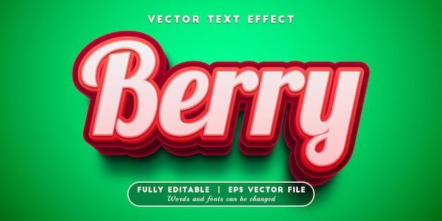 Efeito de texto berry com estilo de texto editável
