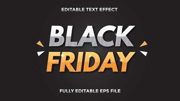 Efeito de texto black friday editável
