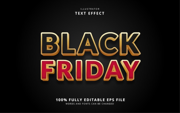 Efeito de texto black friday