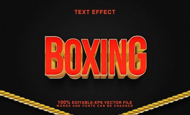 Efeito de texto boxing vermelho e dourado