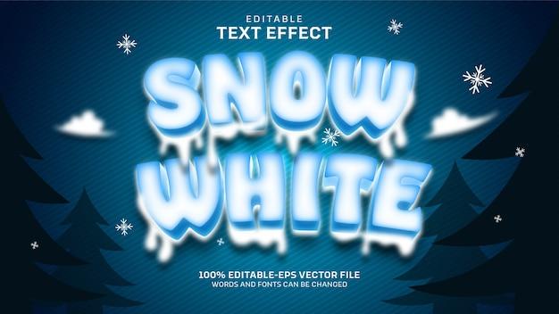 Efeito de texto branco de neve