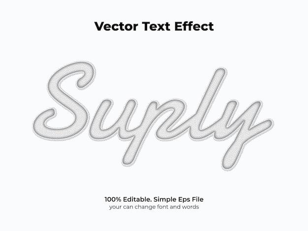 Efeito de texto branco limpo Vetor Premium
