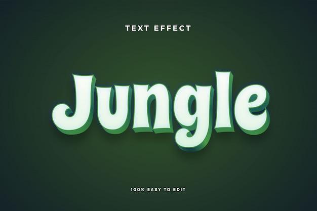 Efeito de texto branco verde selva