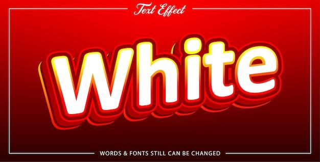 Efeito de texto branco