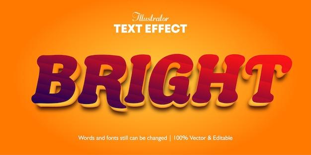 Efeito de texto brilhante 3d