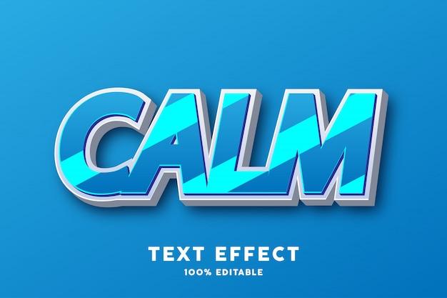 Efeito de texto brilhante azul