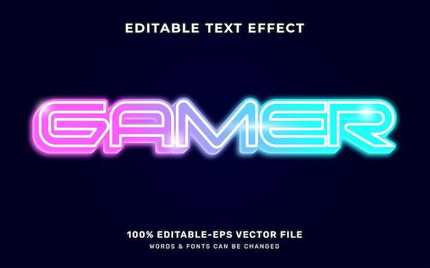 Efeito de texto brilhante do jogador