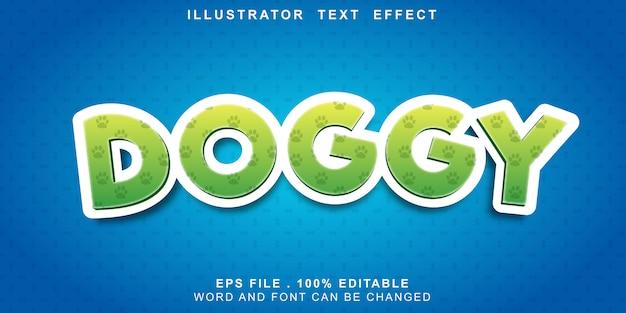 Efeito de texto canino editável