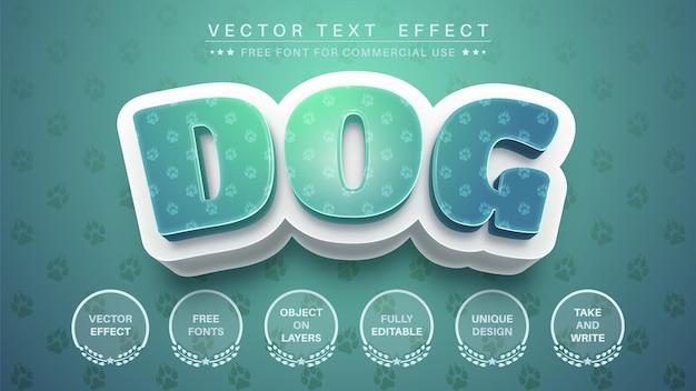 Efeito de texto cão 3d