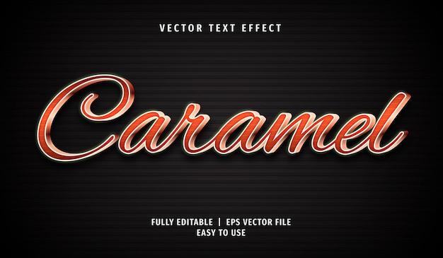 Efeito de texto caramelo, estilo de texto editável