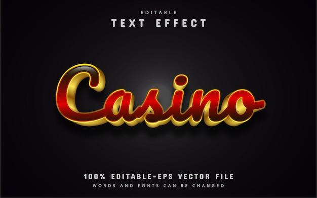 Efeito de texto casino ouro