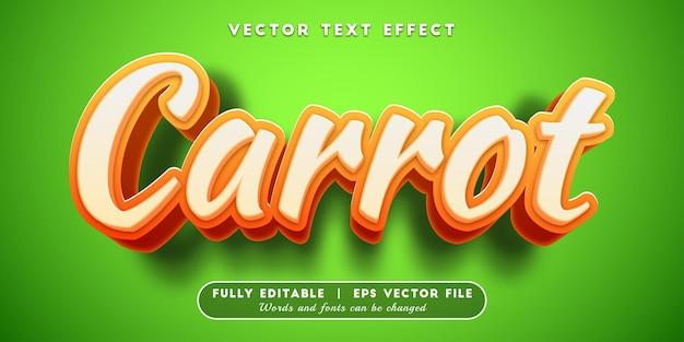 Efeito de texto cenoura com estilo de texto editável