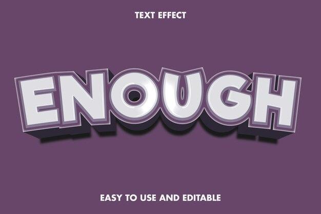 Efeito de texto - chega. fácil de usar e editável. ilustração vetorial premium