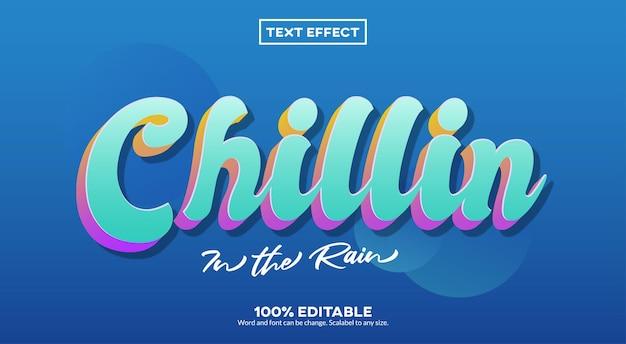 Efeito de texto chillin