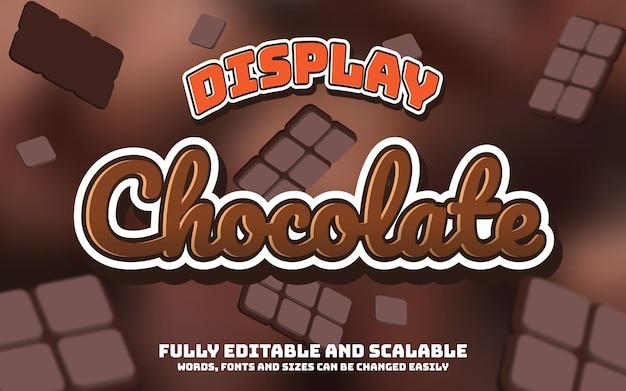 Efeito de texto chocolate editável