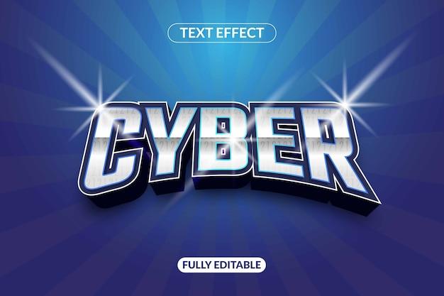 Efeito de texto cibernético brilhante