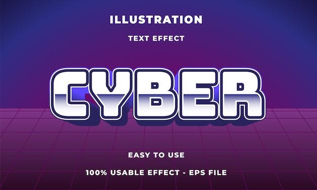 Efeito de texto cibernético