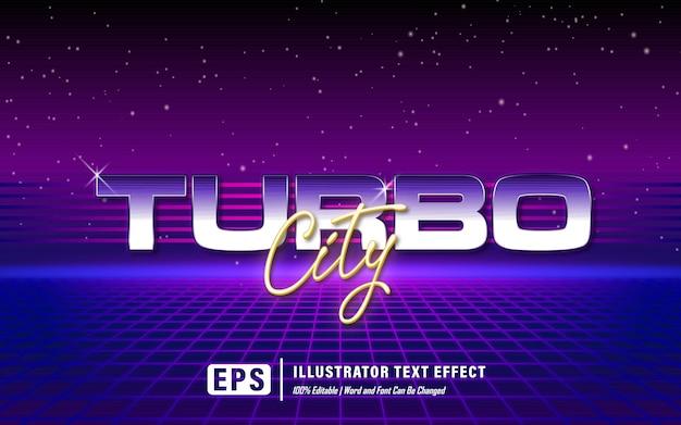 Efeito de texto cidade turbo - editável