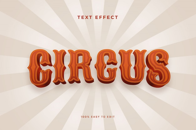 Efeito de texto circo 3d