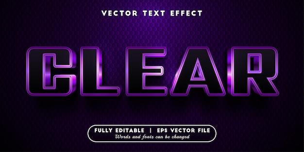 Efeito de texto claro com estilo de texto editável