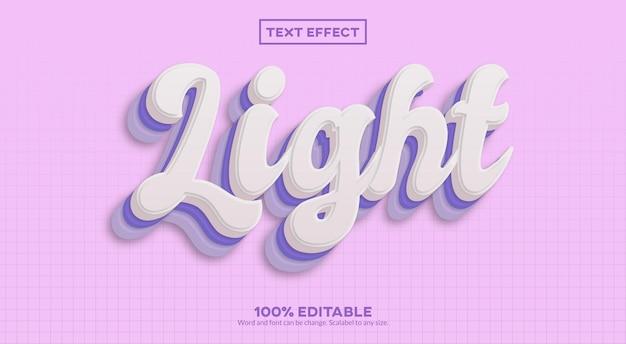 Efeito de texto claro