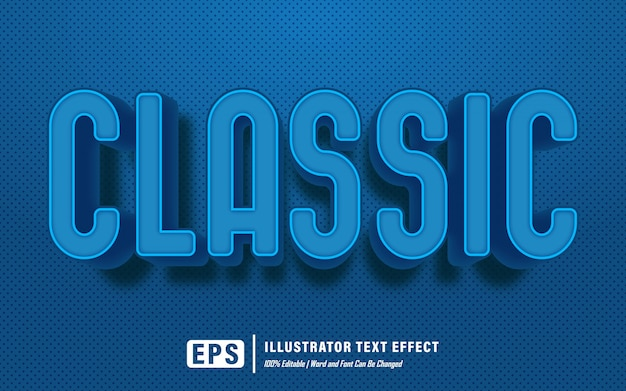Efeito de texto clássico - efeito de texto editável - palavras e fontes podem ser alteradas