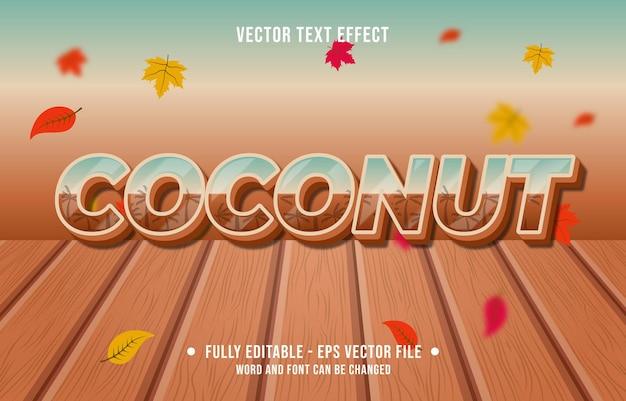 Efeito de texto coco gradiente estilo outono temporada de fundo
