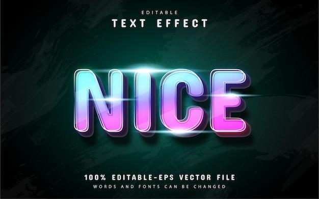Efeito de texto colorido bonito em estilo neon