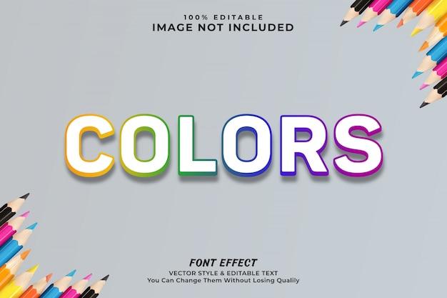 Efeito de texto colorido