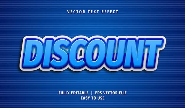 Efeito de texto com desconto 3d, estilo de texto editável
