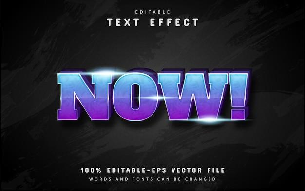 Efeito de texto com gradiente azul e roxo