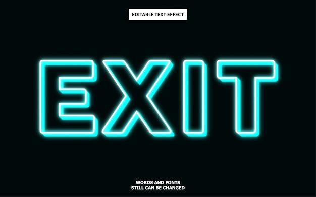 Efeito de texto com luz azul