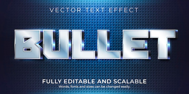Efeito de texto com marcadores metálicos, estilo de texto editável brilhante e elegante