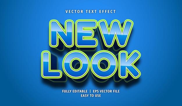 Efeito de texto com nova aparência, estilo de texto editável