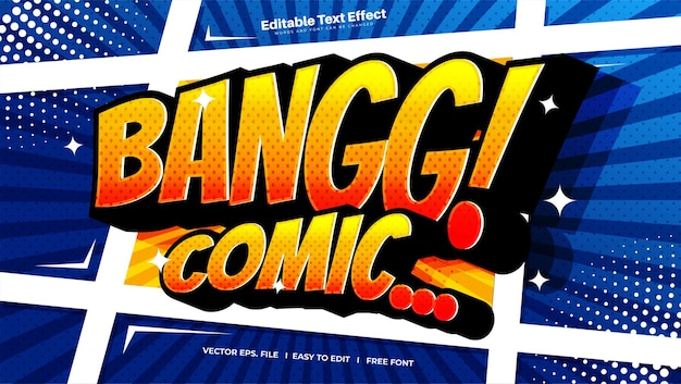 Efeito de texto comic bangg