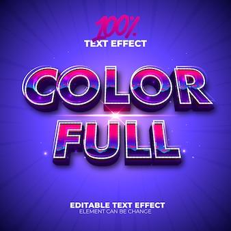 Efeito de texto completo em cores