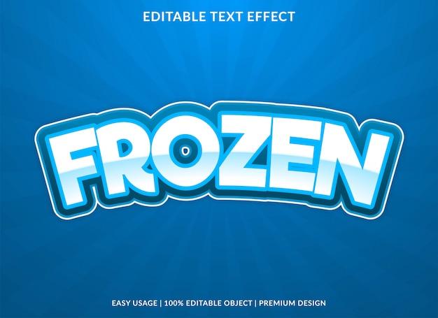 Efeito de texto congelado com estilo arrojado