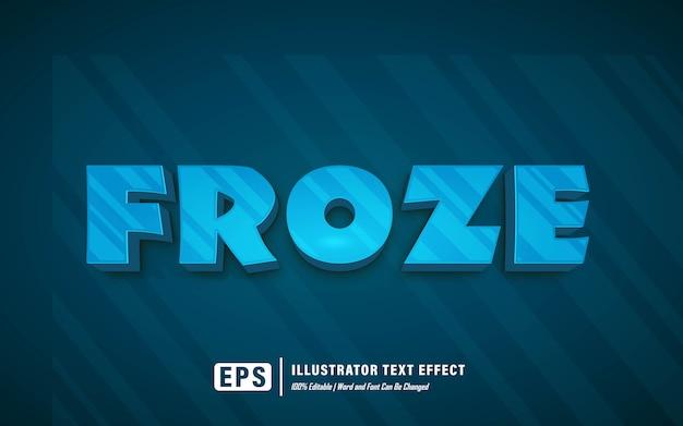 Efeito de texto congelado - editável