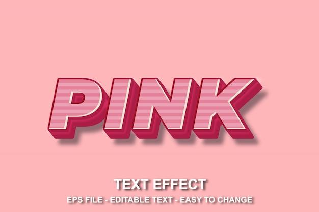 Efeito de texto cor de rosa