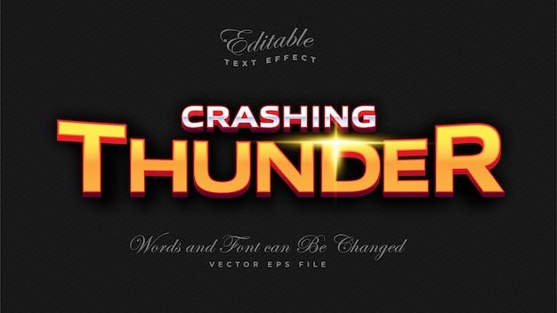Efeito de texto crashing thunder bold