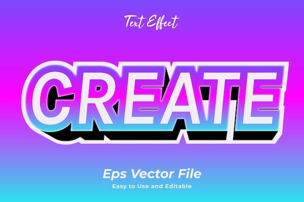 Efeito de texto criar vetor premium editável e fácil de usar